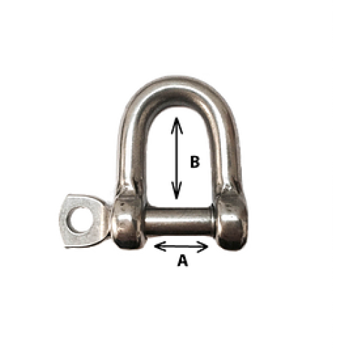 6mm Straight Shackle