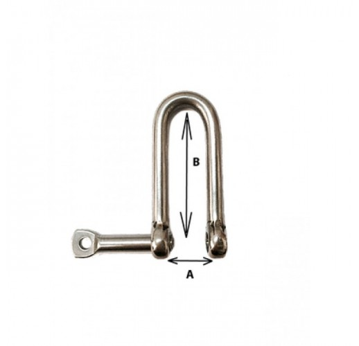 6mm Long Shackle with captive pin