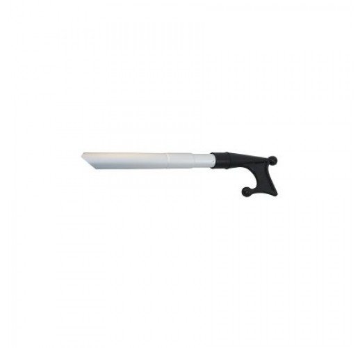 Small aluminium telescopic mooring hook with plastic top