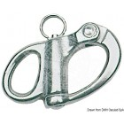 Snap-shackle for spinnaker, halyards and general purposes, 66mm