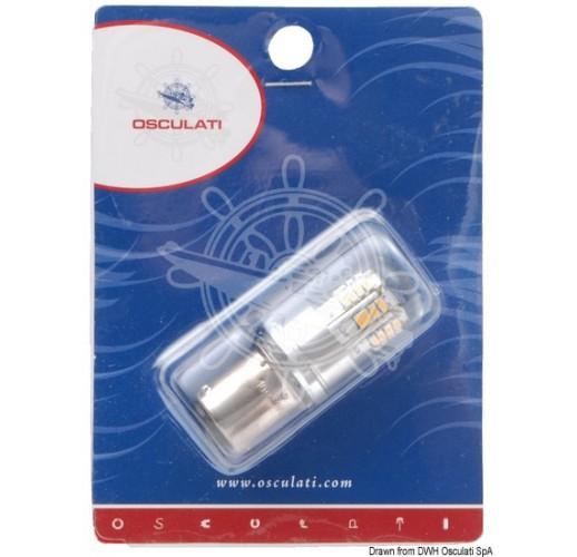 BAY15D LED bulb, offset pins for navigation lights