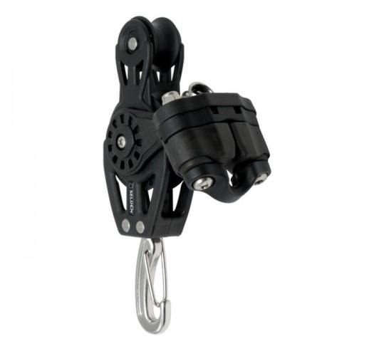 Ball bearing block - fiddle, hook, cam cleat, 2-P eye